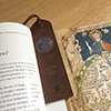 antique vintage leather bookmark for men world map features