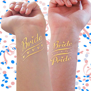 Bachelorette Party Temporary Tattoos For Hen Party Team Bride Tribe I Do Crew Bride Pride